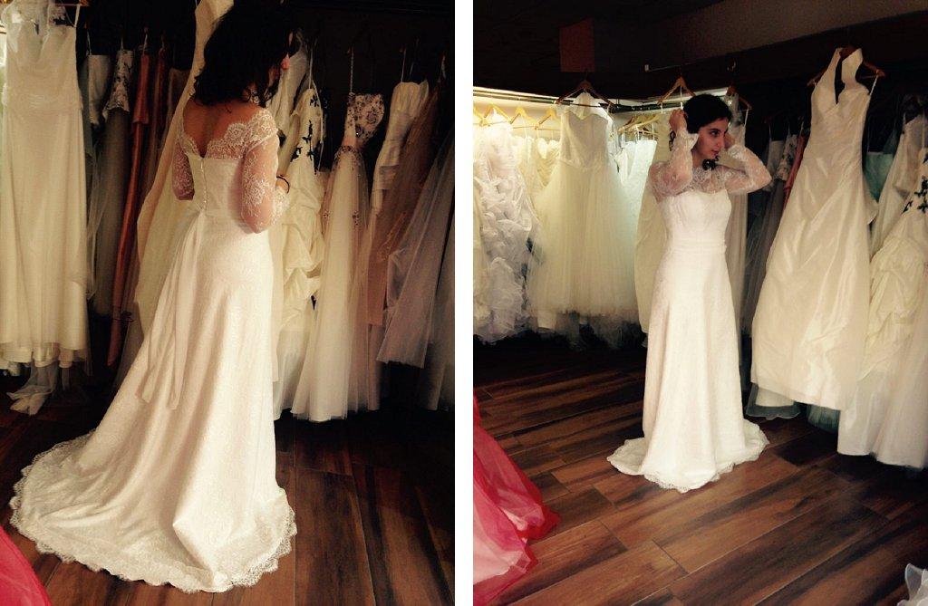 Mon mariage : l'enfilage de ma robe de mariée