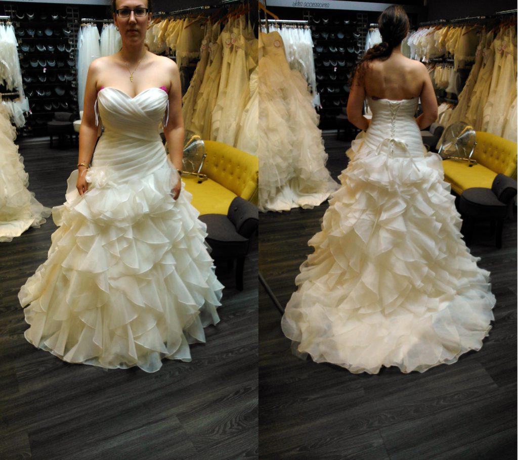 Mes essais de robes de mariée avec de l'organza