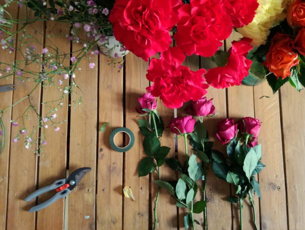 Faire mes compositions florales pour le jour J !