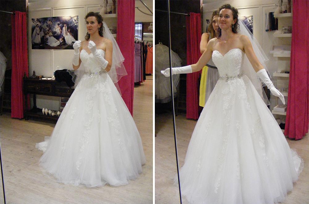 Mme Salade de Fruits et sa robe de mariée de princesse