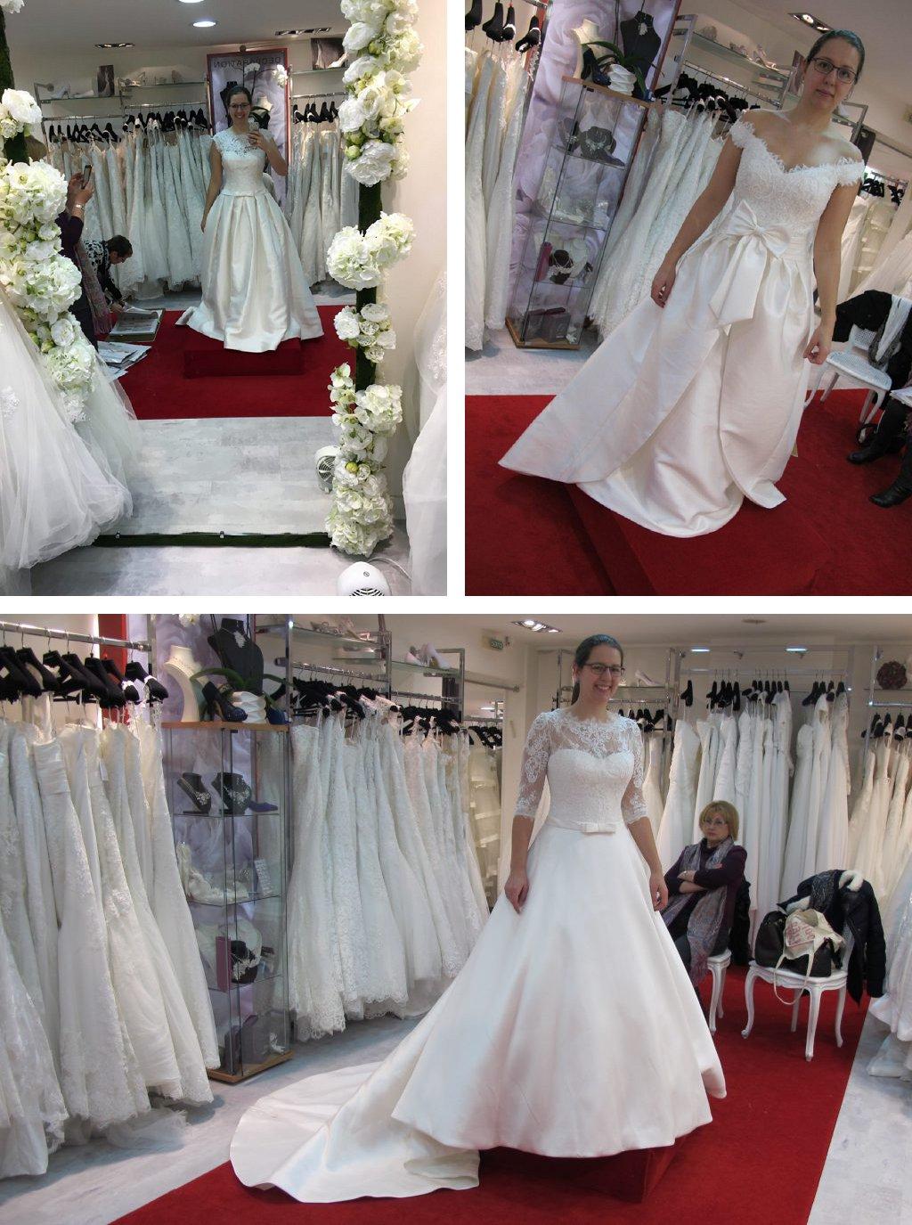 Essayage de robes de mariée Aire Barcelona