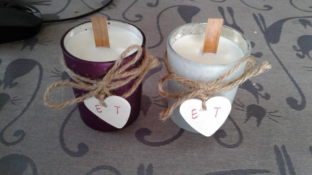 Magnets et bougies pour nos cadeaux d'invités !