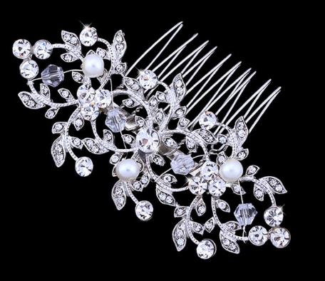 Peigne strass et perles accessoires mariée