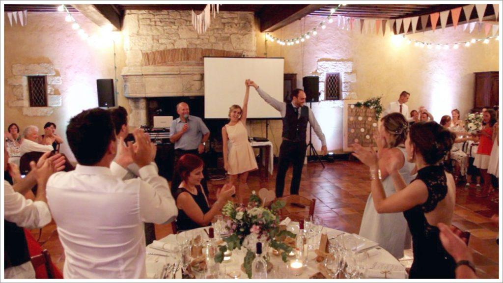 Un rock pour l'entrée des mariés dans la salle