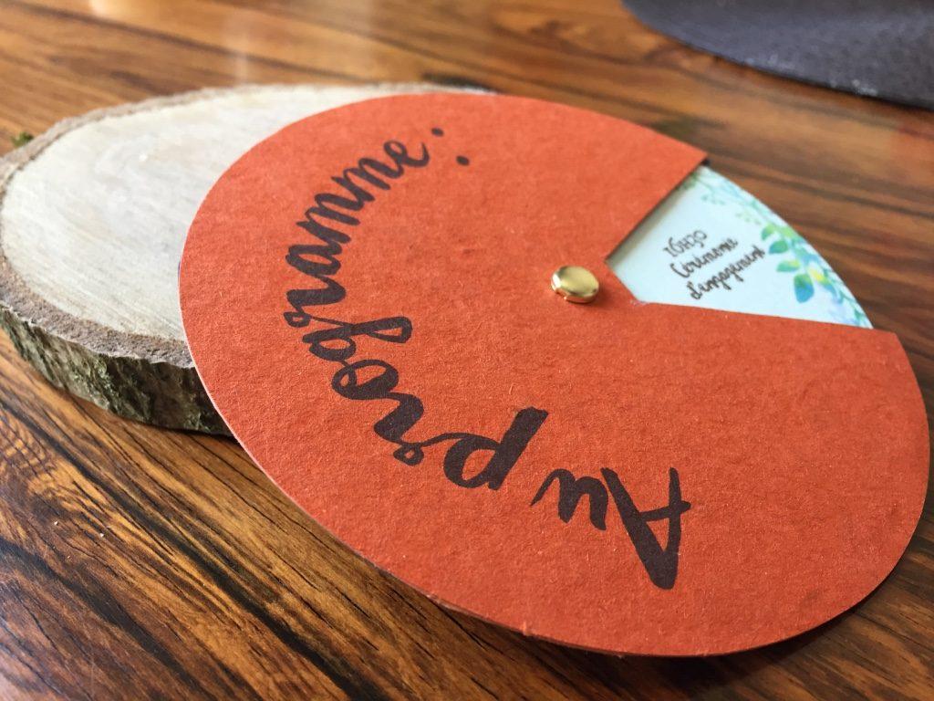 Le faire-part green de notre mariage