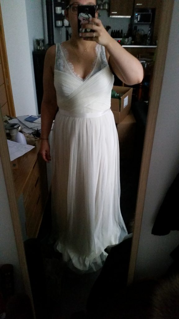 Essayage robe de mariée Mlle Moutarde