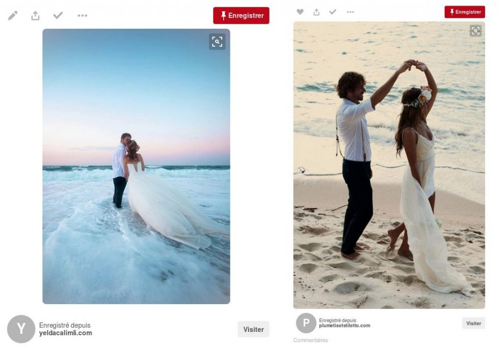 Mariage civil au bord de la mer