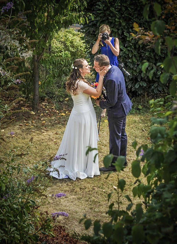 Découverte des mariés le matin du mariage !