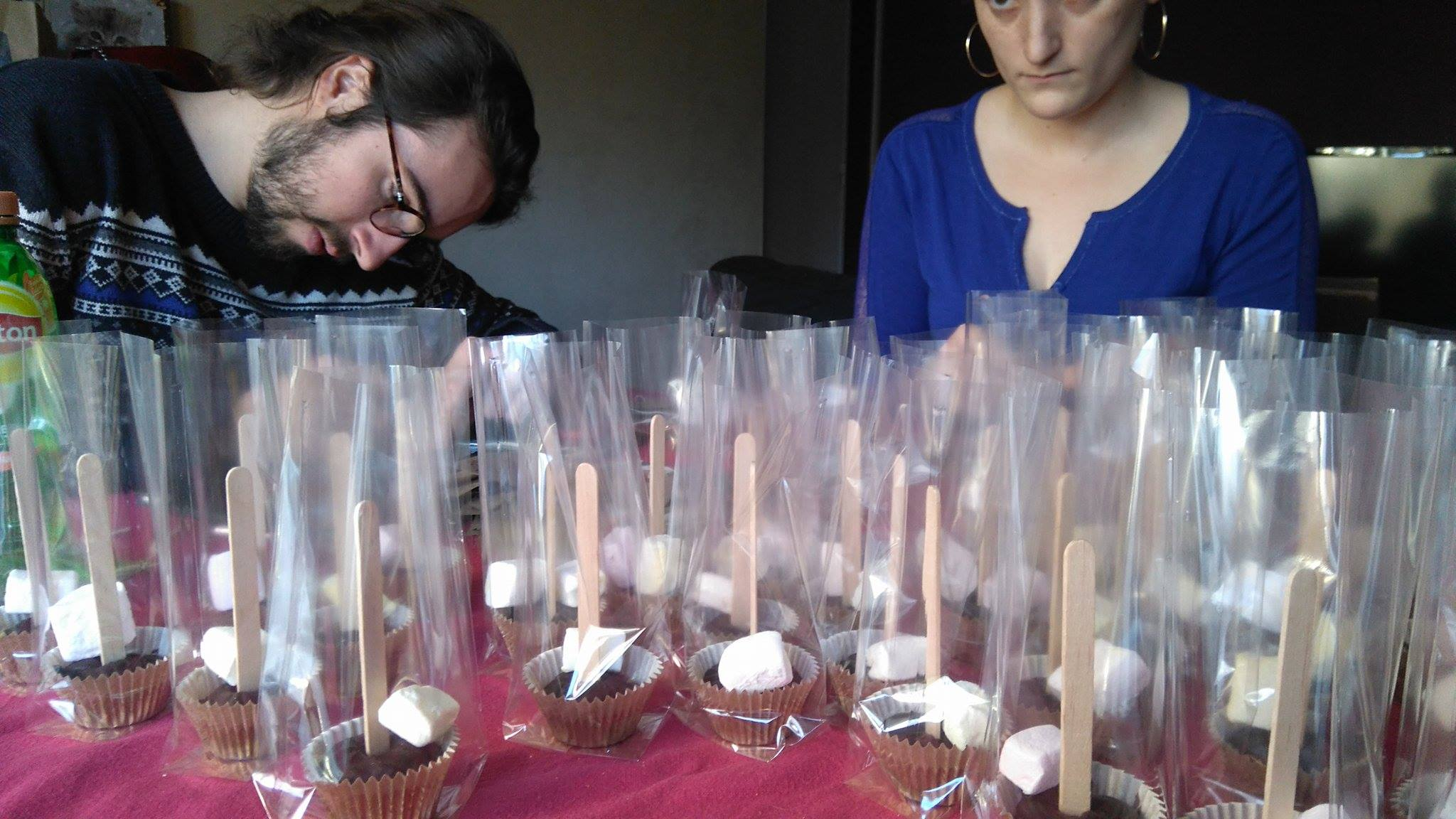 Cadeau d'invités : des sucettes pour chocolat chaud