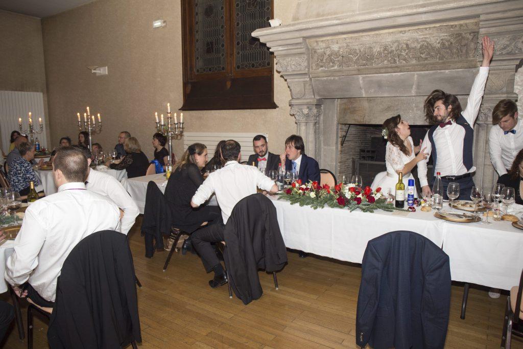 Le repas et la soirée dansante de notre mariage vintage