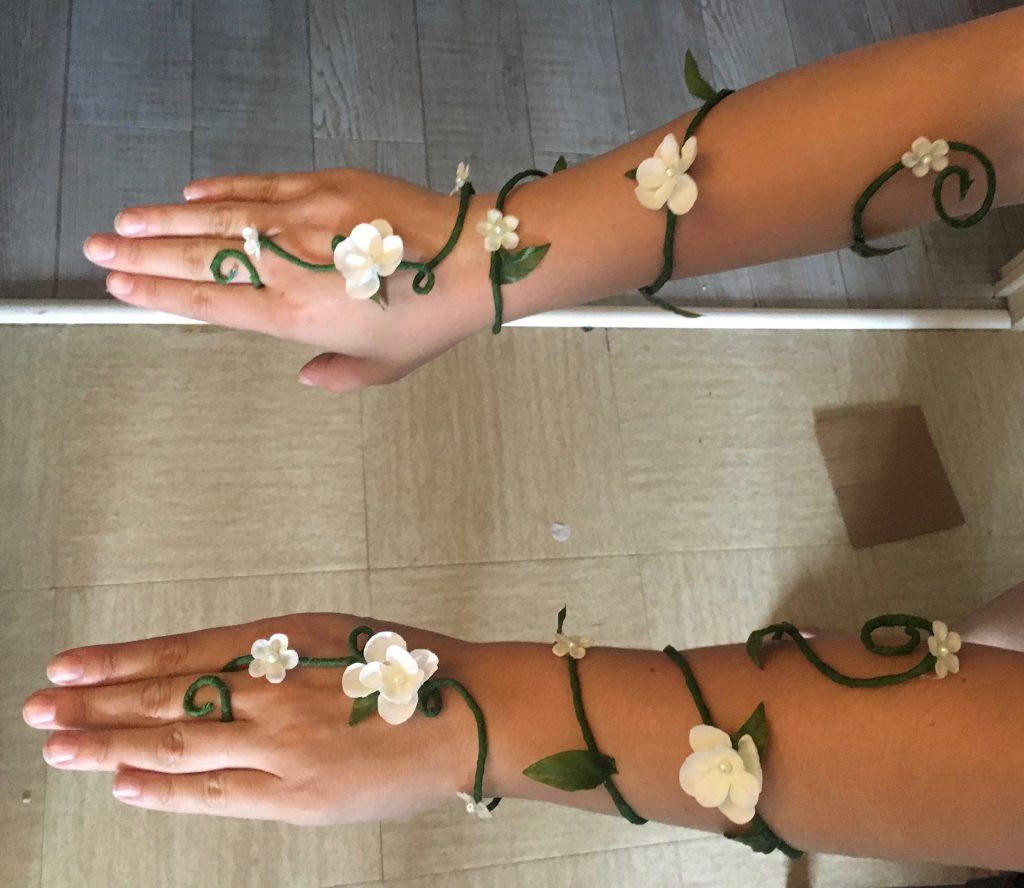 DIY : manchettes fleurs Zelda