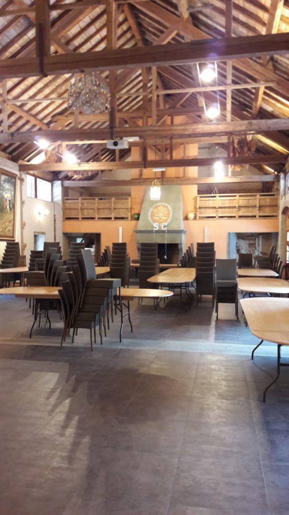 Installation salle mariage