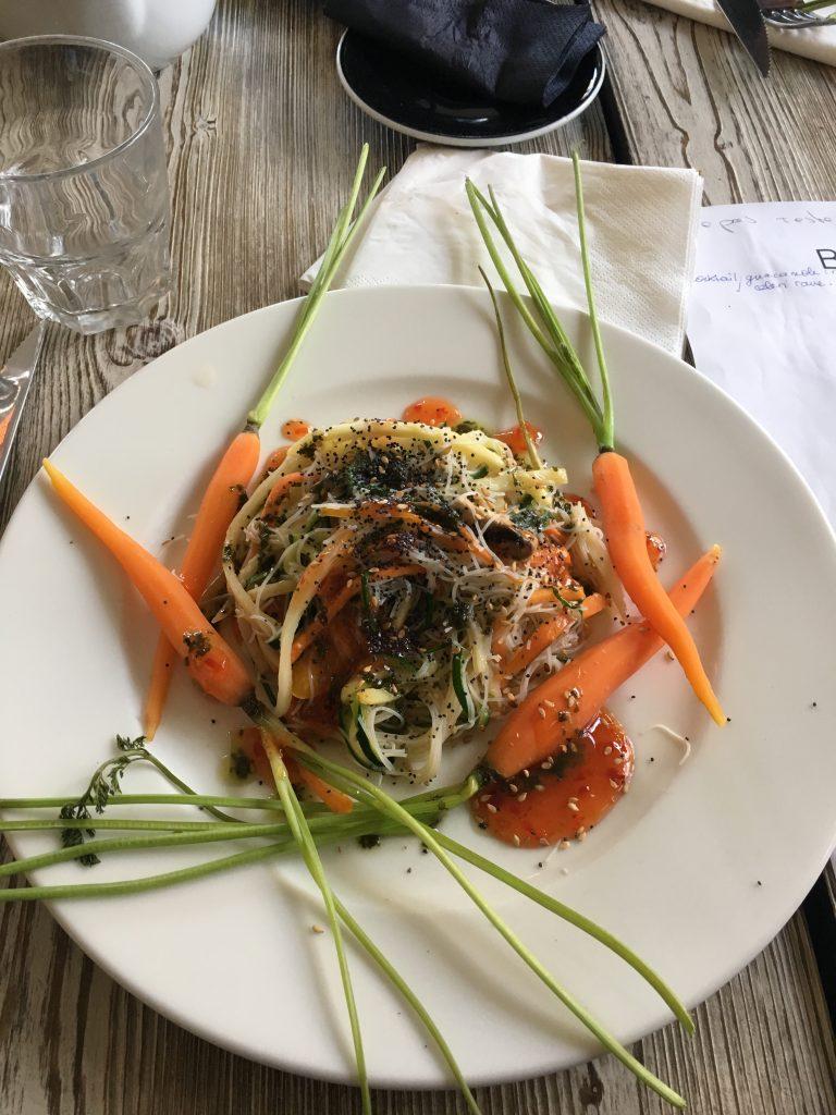 Repas de mariage végétarien