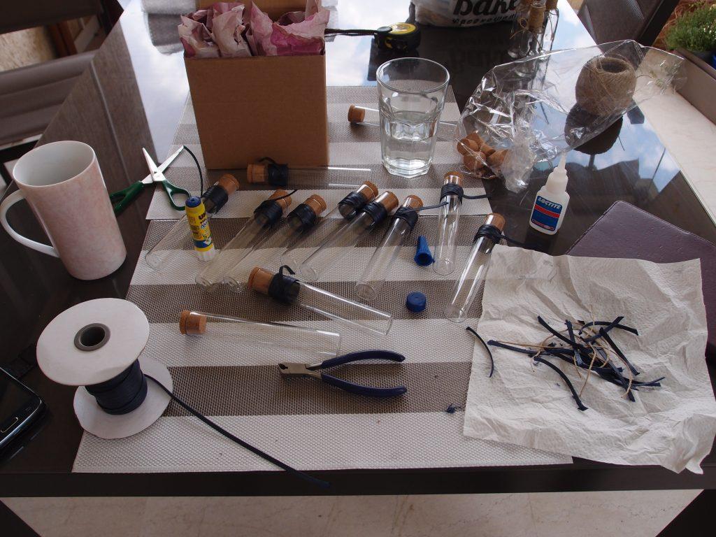 La galère de mes dragées en tube à essai DIY