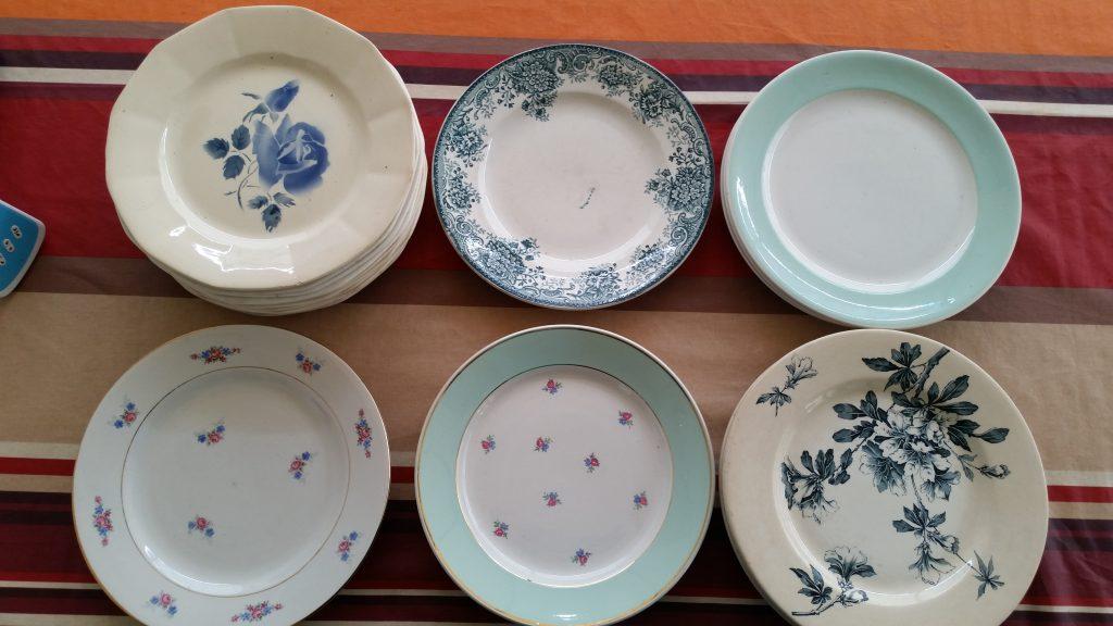 Mes assiettes en porcelaine vintage