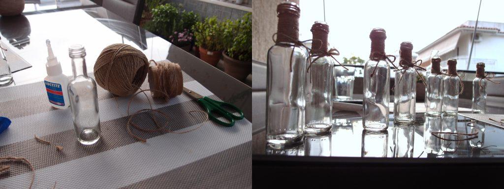 Nos noms de table bouteille à la mer DIY