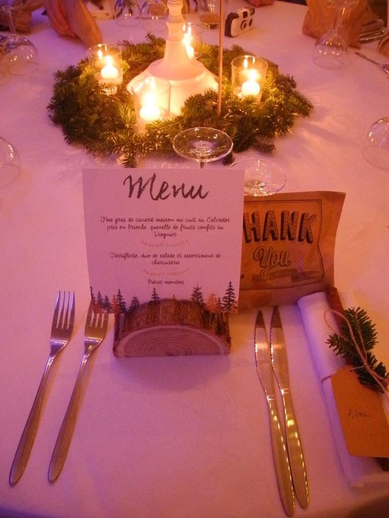 Budget de mariage détaillé : décoration de table