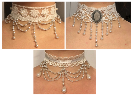DIY collier victorien en perles