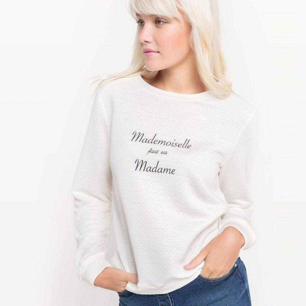 Pull retour de noces Mademoiselle
