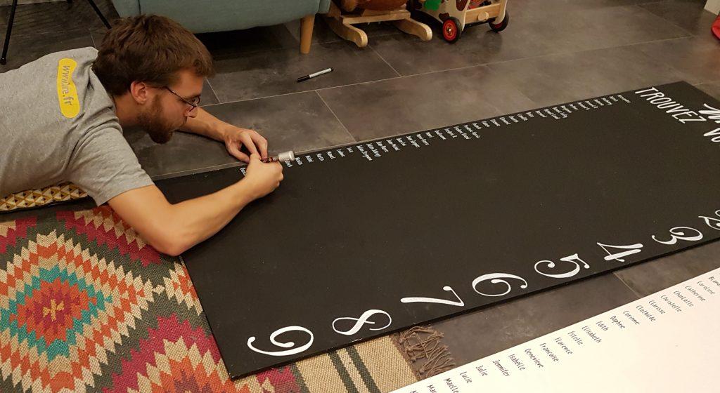 Notre plan de table à fils DIY