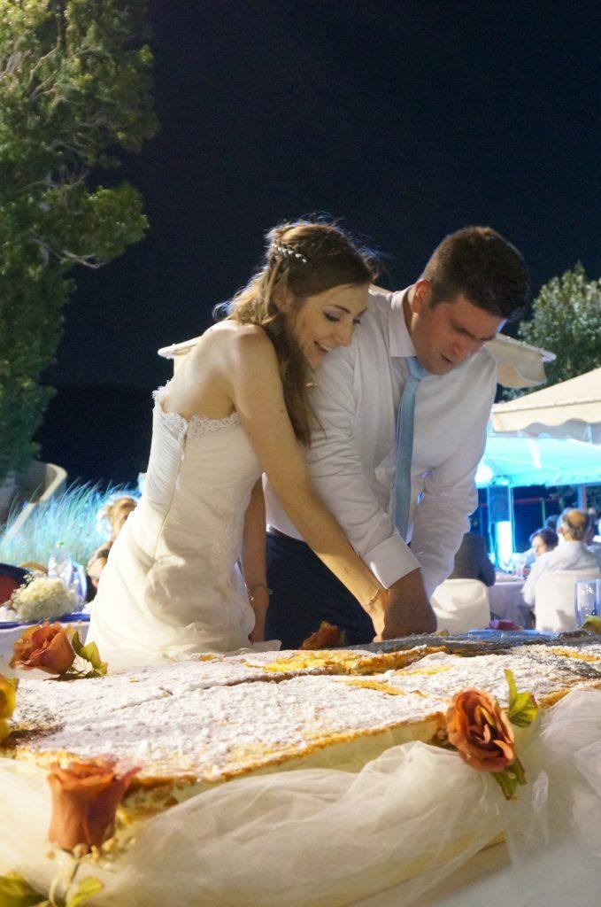 Ma soirée de mariage grec, la tourta