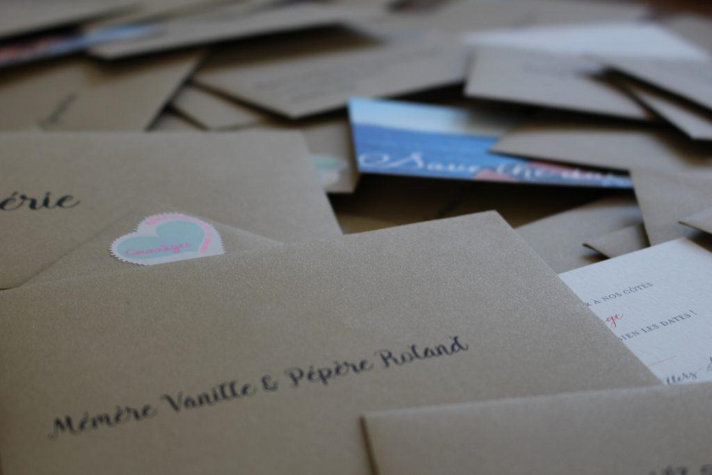 Notre save-the-date carte personnalisé
