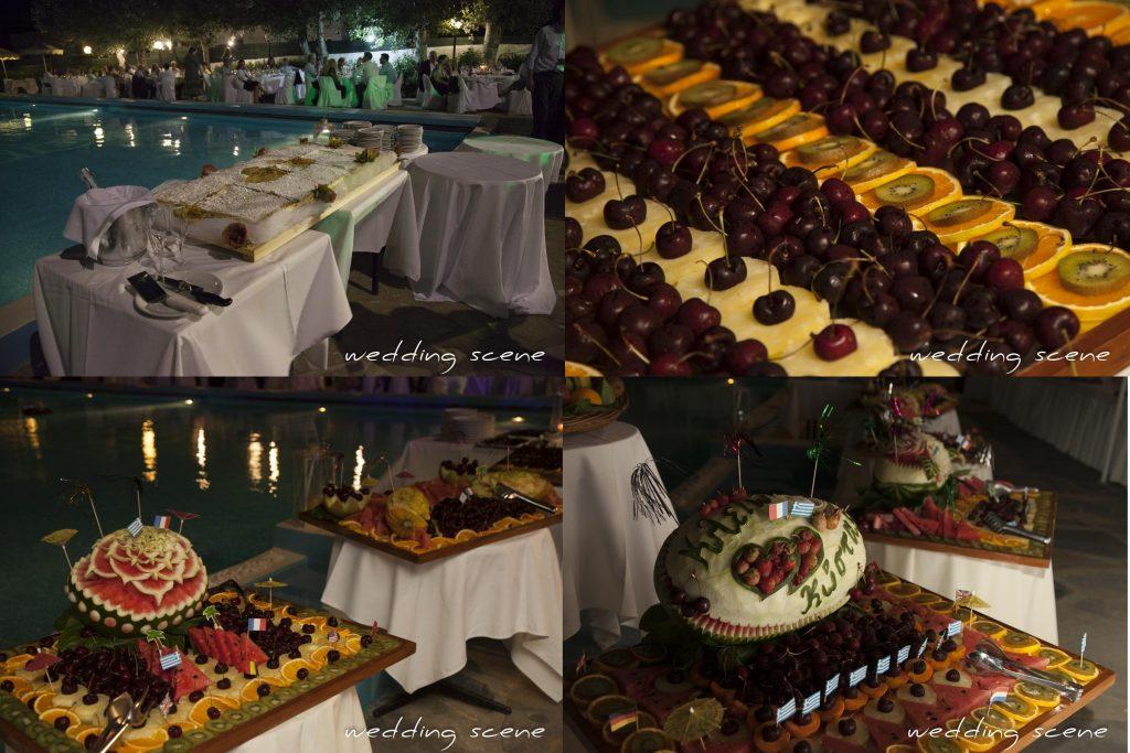 Notre buffet de soirée de mariage grec // Photo : Wedding Scene