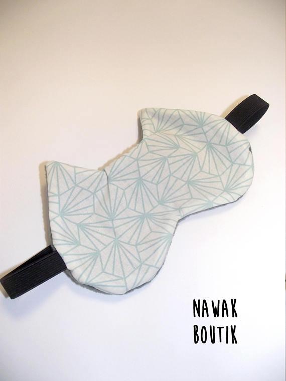 Ma wishlist Etsy : du bleu et du made in France - Masque de nuit Chat - origami - Bleu