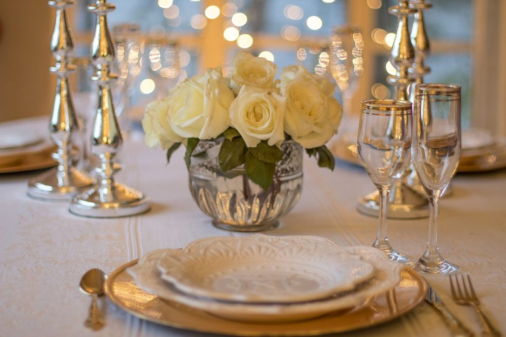 Repas intime du mariage civil