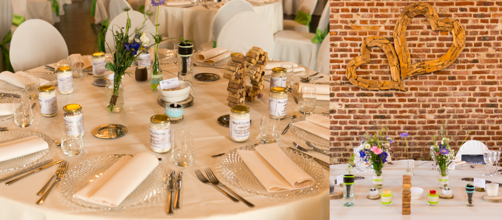 Mise en place de la déco du mariage // Photo : Ultraspider Wedding