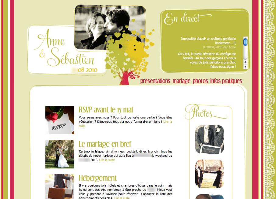 Créer son site web de mariage