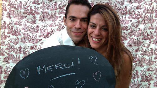 Mon mariage tout en dentelle : le photobooth