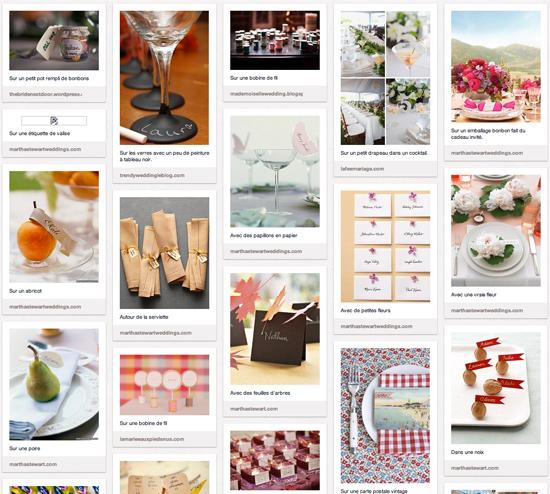 50 idées de marque-places ou d'escort cards pour ton mariage