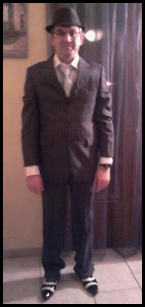 Costume père de la mariée mariage thème années 50