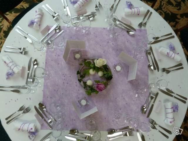 Décoration mariage parme lilas