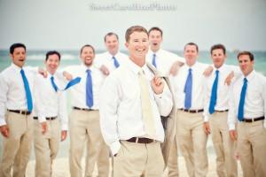 cravate témoins bleu