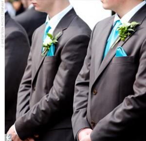 cravate témoins bleu turquoise
