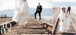 mariage thème train