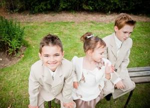 photo enfants cortège mariage