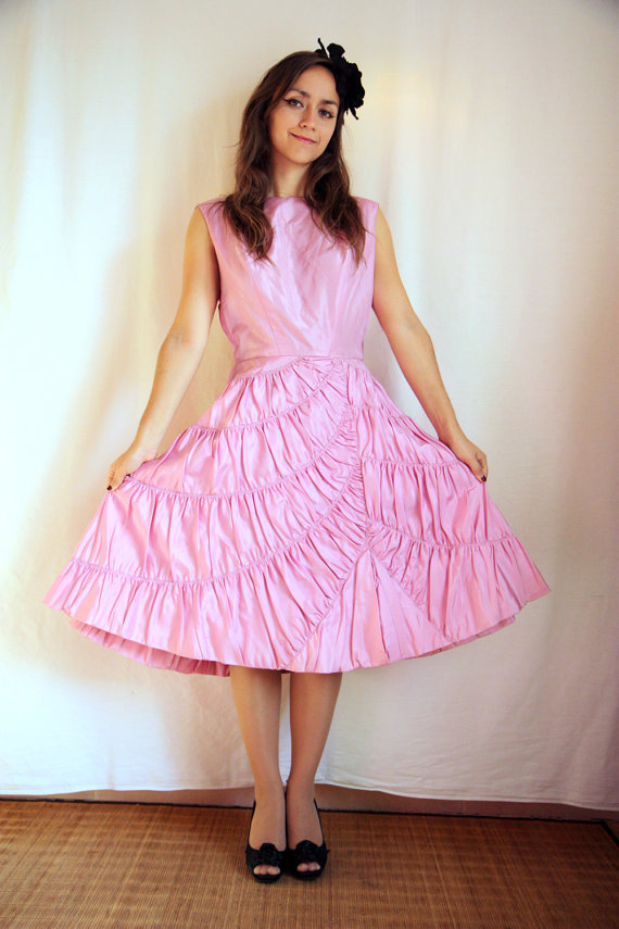 robe années 50 vintage
