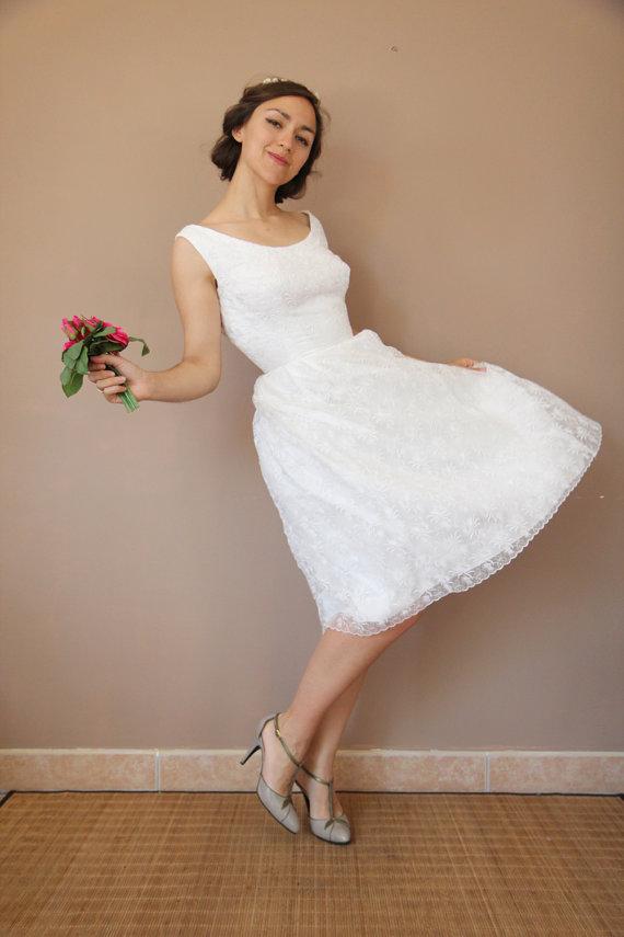 robe de mariée années 60 vintage