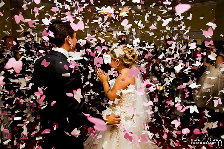 thème mariage papillon confetti