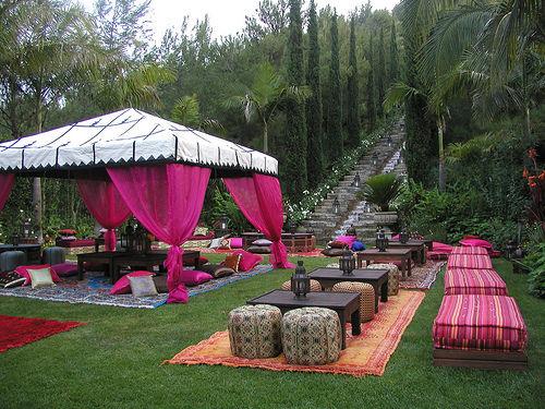 Décoration mariage tente orientale
