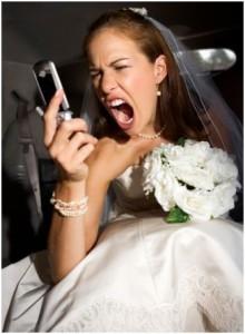 Mariée stressée