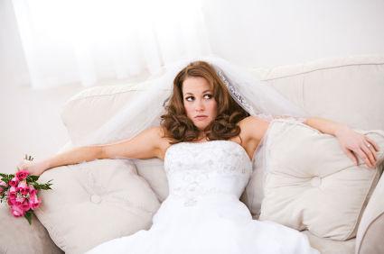 future mariée stressée