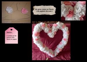 coeur en fleurs déco mariage