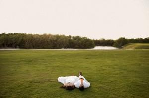 les mariés dorment à la belle étoile