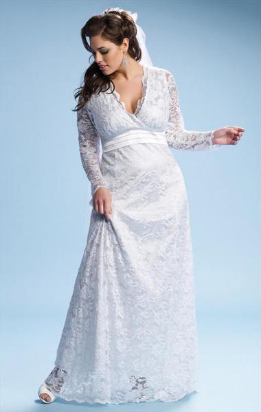 robe de mariée pour rondes