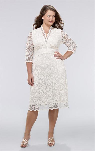 robe de mariée courte pour femme ronde