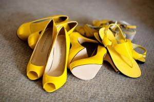 escarpins jaunes mariage